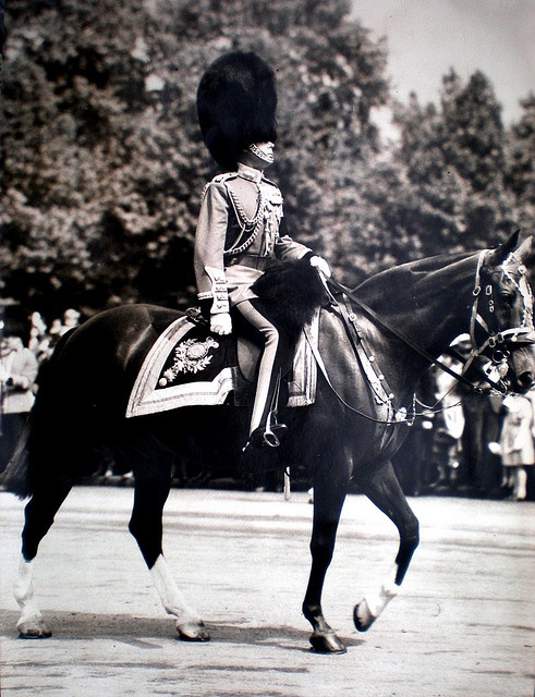 HM King at Edward VIII (later Duke of Windsor) at the Birthday Parade, July, 1936