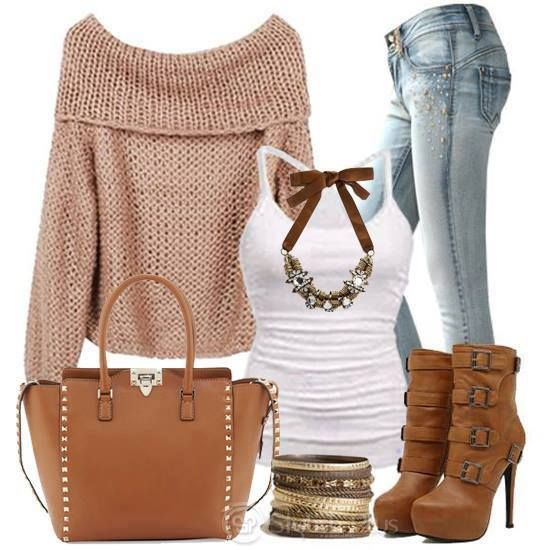 mode, camel, rose, swag, style, tenue