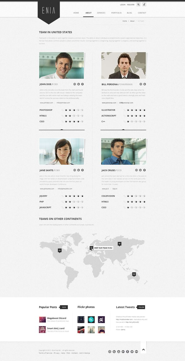 Enia - Professional PSD template by Astrit Malsija, via Behance