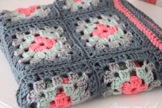 Crochet blanket. Colour
