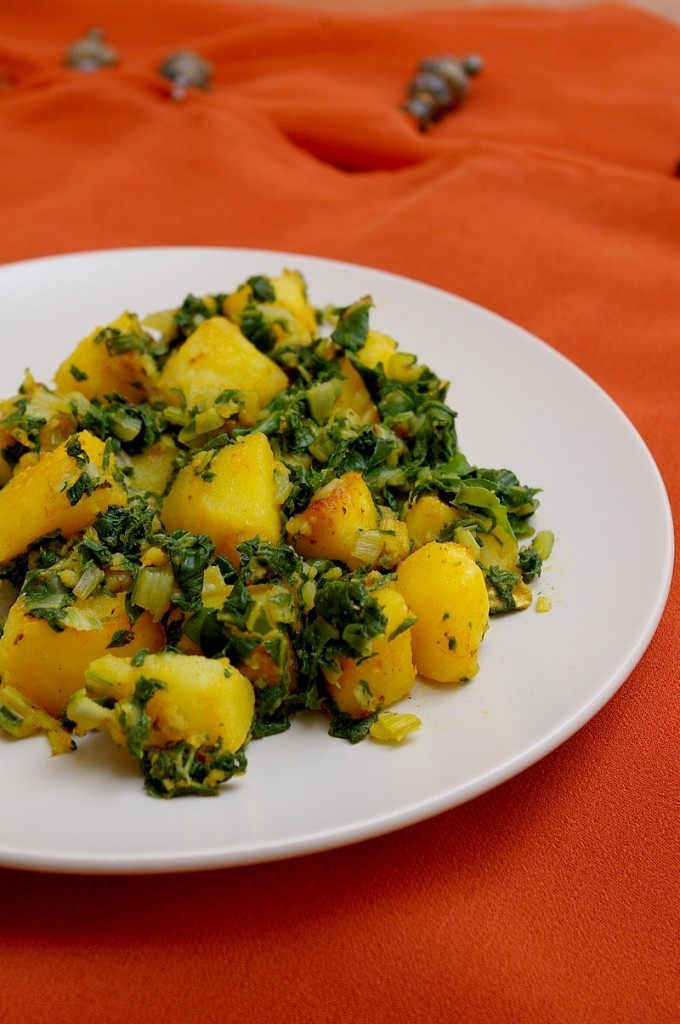 Pommes de terre aux épinards à l'indienne
