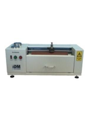 Din Abrader The Din Abrader is primarily for use in determining the resistance of vulcanised rubber to abrasive forces using a cylindrical type drum. It may however be used to determine the resistance to abrasion of other types of materials such as certain plastics. A cylindrical shaped test piece is abraded across a surface of known abrasiveness for a defined distance under a certain load