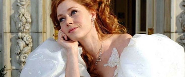 Enchanted (2007) Dir: Kevin Lima Stars: Amy Adams, Susan Sarandon, James Marsden, Patrick Dempsey  A princess, who is prepared to be wed, is sent away to New York by an evil queen, where she falls in love with a lawyer.  Watch the movie here: https://www.youtube.com/watch?v=TjIscwxL1Tk