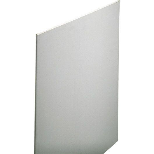 Plaque de plâtre 2.5x0.6 m BA13, NORGIPS