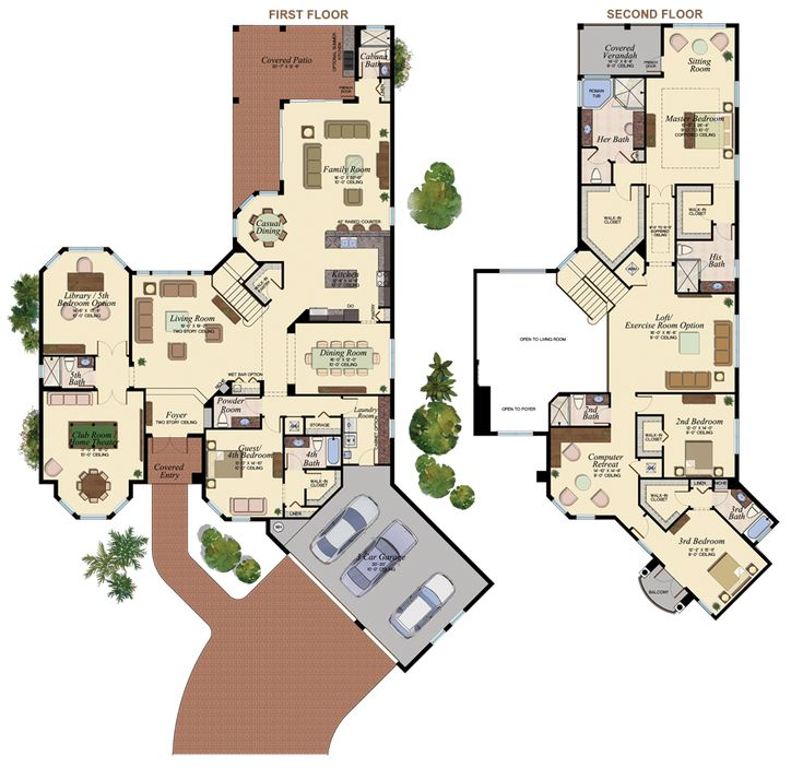 SPACIOUS! The Hawthorne Floorplan at Bay Hill Estates West Palm Beach - Loft, Game Room, Computer Retreat #glhomes