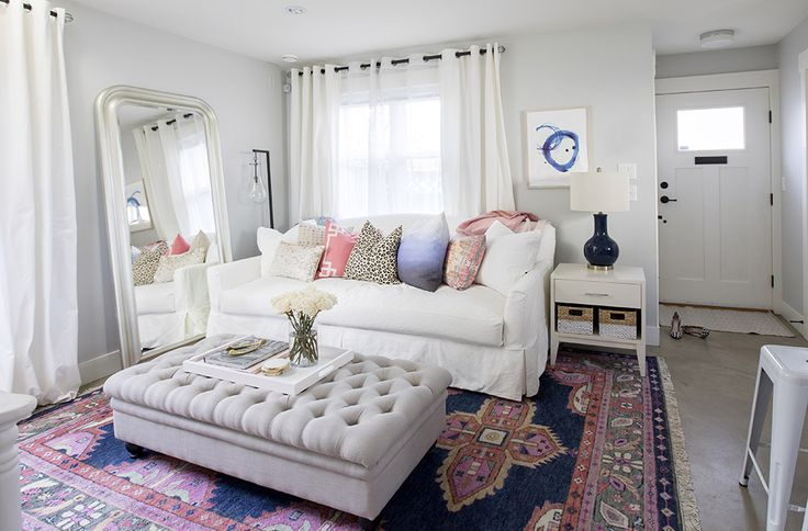 Area rugs + pillows can provide you with a pop of colour and texture in your home!! XO