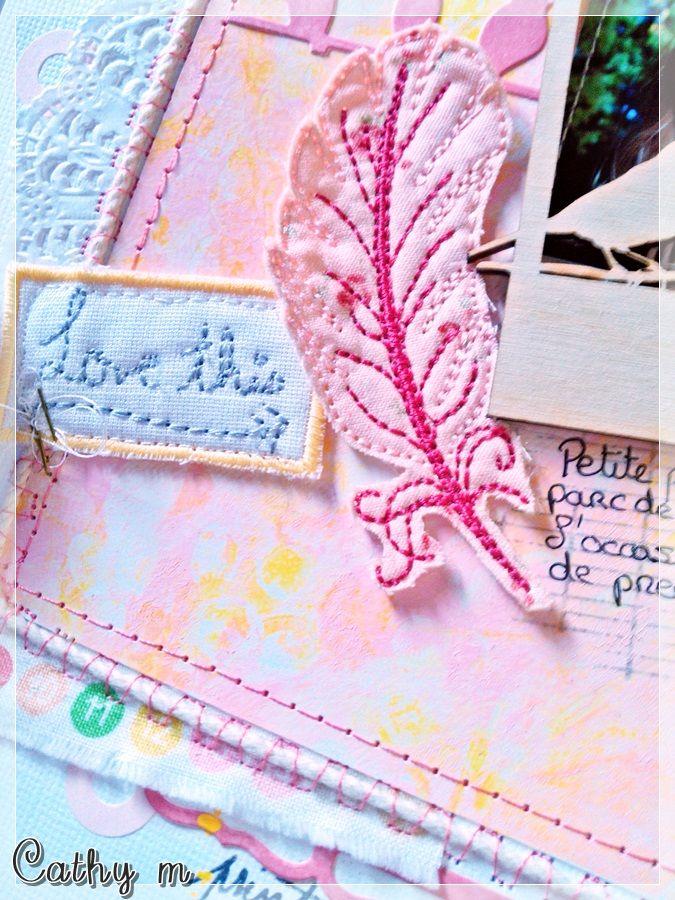 Cathy M, Embroidery Design Publication dans Histoires de pages n°57 (page 53). page coup de coeur ! yipiii ! merci HDP !