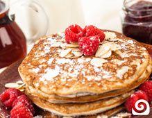 Gluten Free Raspberry Pancakes Recipe | Blendtec ----> http://www.blendtec.com/recipes/gluten_free_raspberry_pancakes