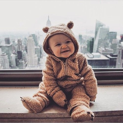 Bear footie pajamas! Too cute!