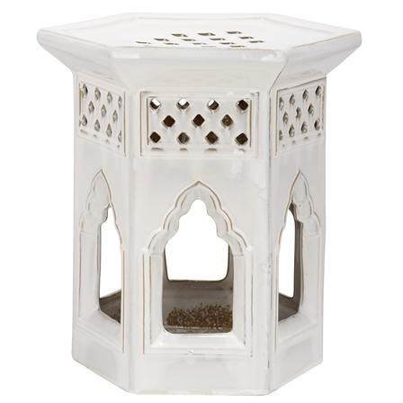 Moroccan Garden Stool, Cream