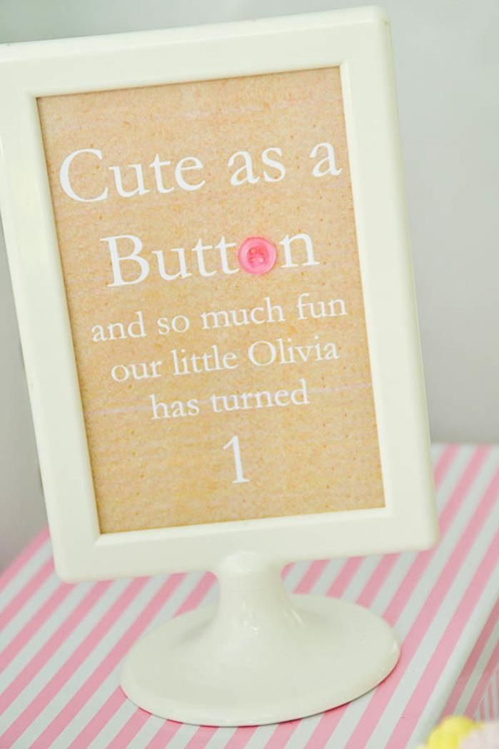 cute as a button birthday parties | ... in this Cute as a Button Party available in Kara's Party Ideas Shop