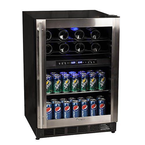 Basement Bar - Magic Chef Dual Zone Digital Wine and Beverage Cooler - MCWBC77DZC