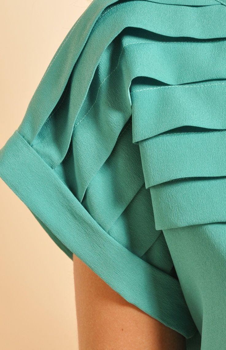 Pleated Sleeve Detail
