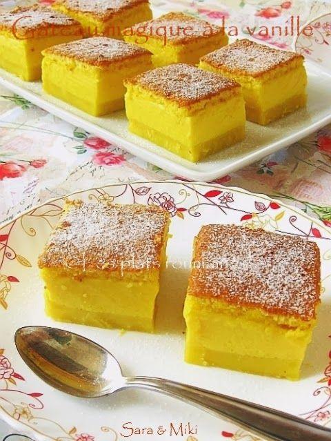 Les plats roumaines: Gâteau magique à la vanille
