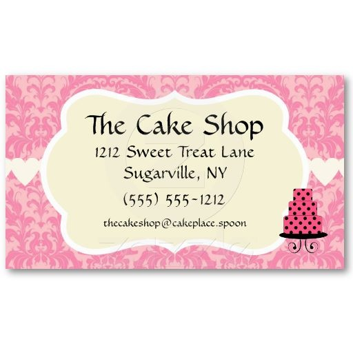 sample flyers for cake business