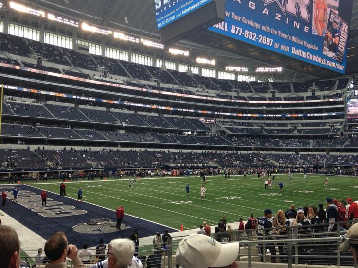Dallas Cowboys Football game at AT&T Stadium in Dallas, Texas.