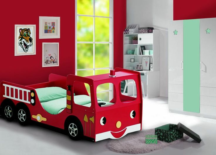 Childs Fire Engine Bed  Novelty Kids Beds  Red Childs Bed