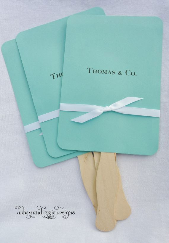 Aqua Wedding Fans | Aqua Wedding | Wedding Hand Fans | Blue Wedding Fans | Favors for Tiffany and Kyle