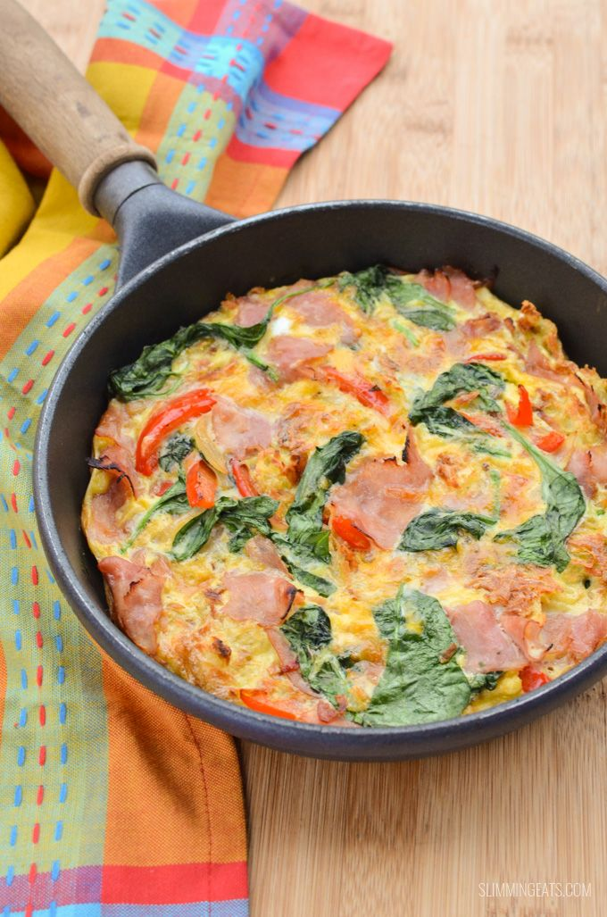 This Ham and Hashbrown Frittata is really high satiety as it has a good source of protein which I find is very important for your first meal of the day.