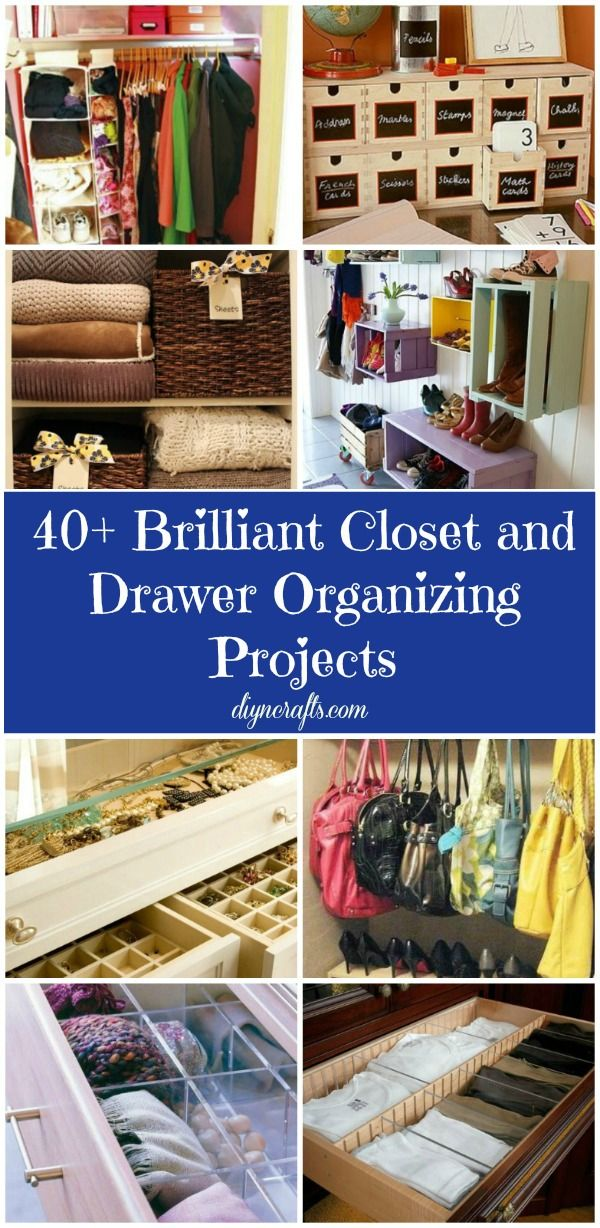 40 Brilliant Closet and Drawer Organizing Projects – DIY & Crafts #organize #closet #drawer #diy #weekend #project
