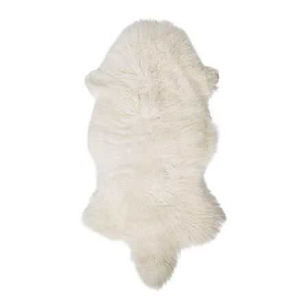 Mongolian Lambskin Rug, White