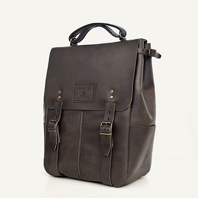 CANDEEIROS BACKPACK - size 1 - Graphite // 100% Portuguese vegetable tanned leather.