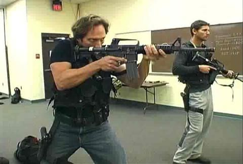 William Fichtner & Eric Bana undergo training with Delta Force, prior to filming Black Hawk Down
