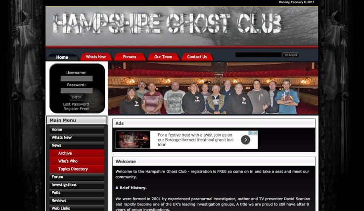 David Scanlan; founder of the Hampshire #Ghost Club (est. 2001); author of Paranormal Hampshire & Paranormal Sussex: http://hampshireghostclub.net