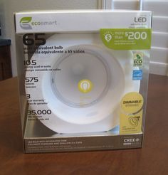 "LED Recessed Lighting; The EcoSmart 6"" Downlight"