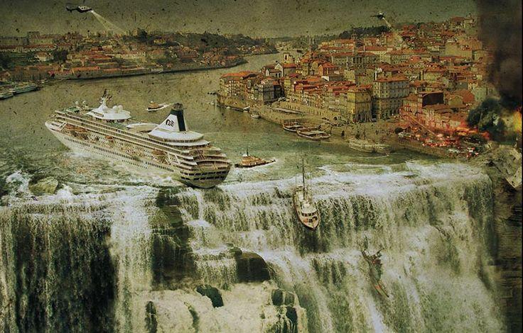 Dünyanın sonunu fotoğrafladı! İngiliz dijital sanatçı eserlerinde İncil'de geçen sellerden yeni bir buz çağına kadar çok sayıda senaryo ortaya konmuş. (Dünyanın sonunu fotoğrafladı!)