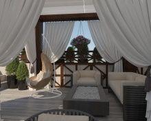 Дизайн веранды жилого дома