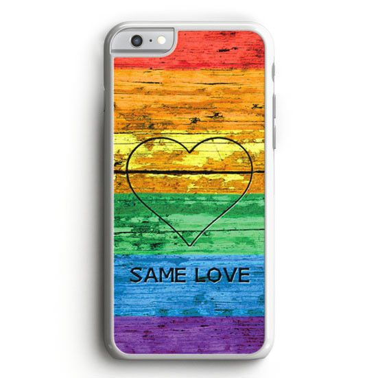 This is a Lgbt Same Love Rainbow Flag iPhone 6S Case high flexibility, and thin profile to protect the back and sides of your phone and allows for easy access to all buttons, functions, and ports at t