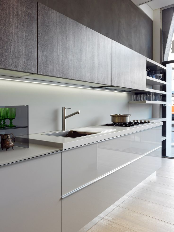 shelving for kitchen cabinets modular fitted kitchen indada by dada design nicola 5186