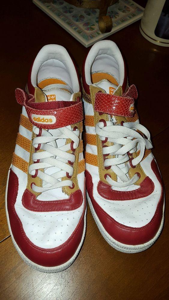 2007 Retro Adidas Concord Low CRT Orange Red 10.5 Mens #adidas #AthleticSneakers