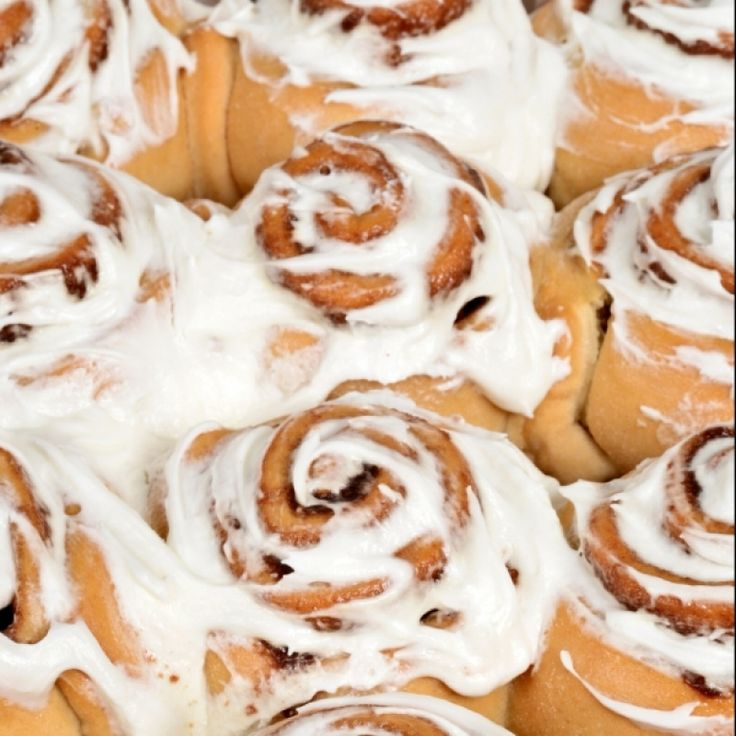 An easy to make recipe for cinnamon buns with a delicious icing sugar glaze.