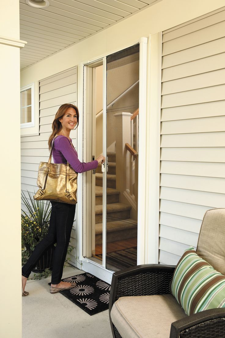 25 best ideas about retractable screen door on pinterest for Retractable screen door with lock
