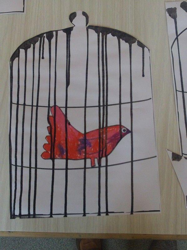 cage aux oiseaux chez Yobrego