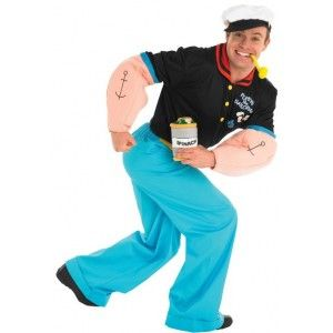 Déguisement Popeye le marin homme grande taille, lcence officielle Popeye the sailor