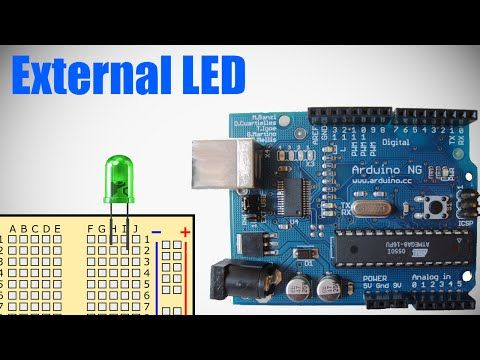 Programming Arduino - Lesson 2 - External LED - YouTube
