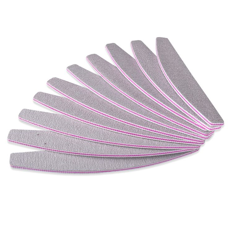 5PCS / lot Pro 100/180 Slim Gray Nail Buffer Sanding Sandpaper Nail Files Manicure Pedicure Nail Art Tool