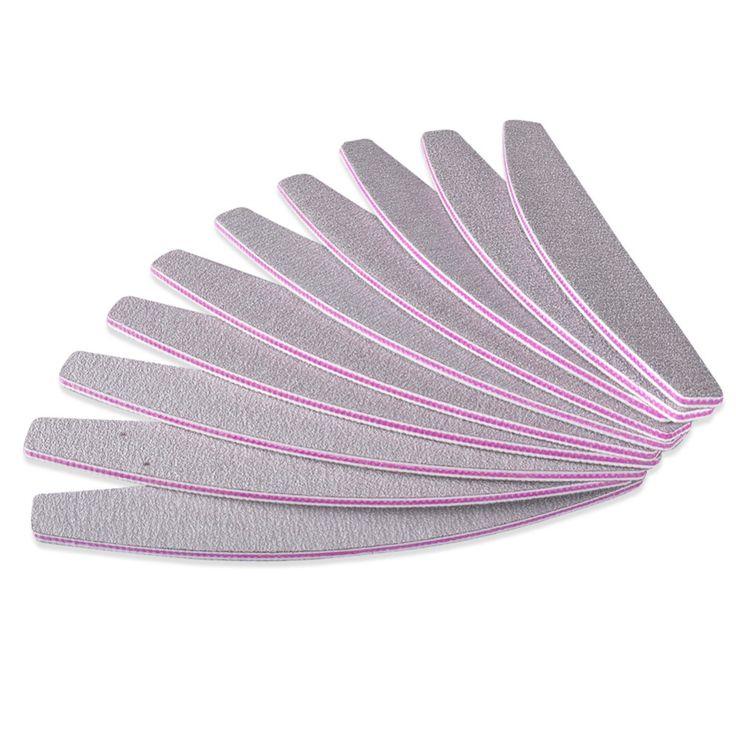 5PCS / lot Pro 100/180 Slim Gray Nail Buffer Sanding Sandpaper Nail Files Manicure Pedicure Nail Art Tool