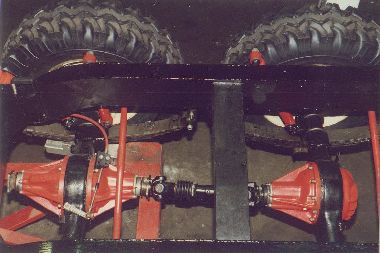 Land Rover 6x6 rear axles setup