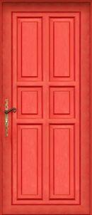 Het appartement van de vader van Elvis heeft een knal rode deur. Hij woont boven een taartenwinkel.