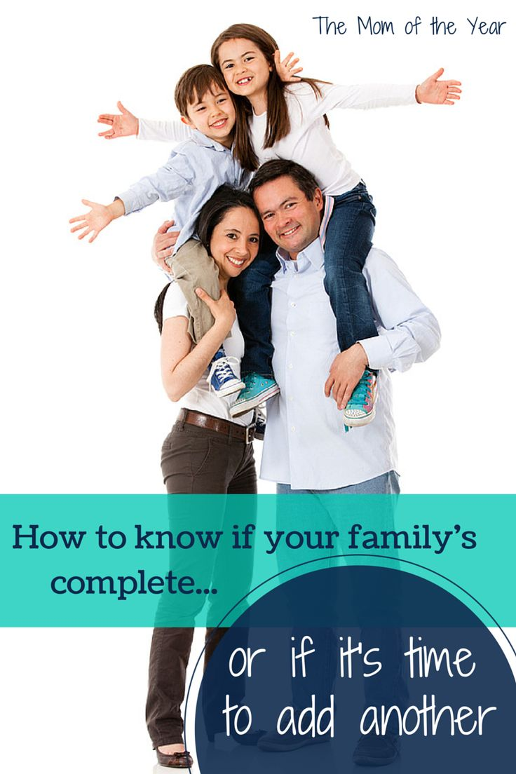 Knowing when your family is complete can be hard. This is how our family found our peace--with the right number of kids for us!