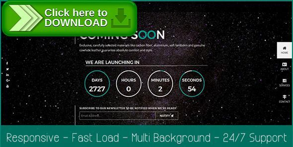 [ThemeForest]Free nulled download Asonno Coming Soon HTML5 Responsive Template from http://zippyfile.download/f.php?id=2443 Tags: asonno, bootstrap, coming soon, contact form, countdown, mailchimp, one page, particles background, site template, startup, startup template, under construction, video background