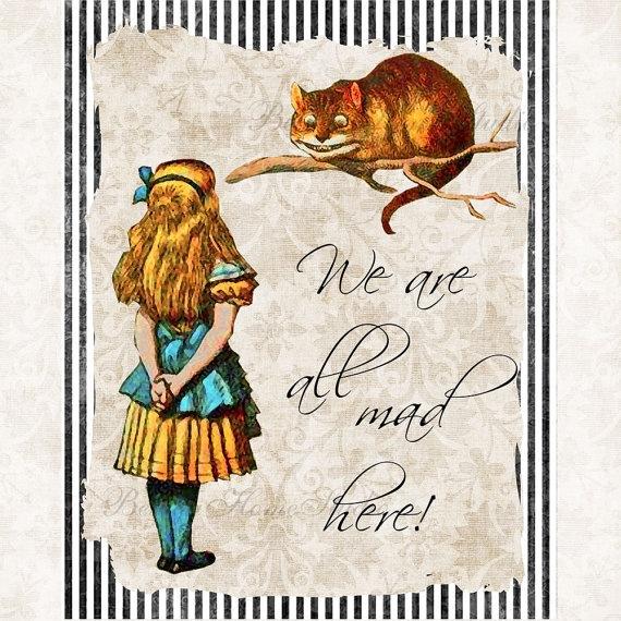 Alice In Wonderland Caterpillar Quotes: Alice In Wonderland With Cheshire Cat Quote