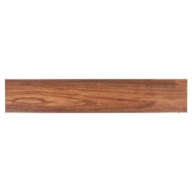 Fulham Red Wood Plank Ceramic Tile - 6in. x 32in. - 100131457   Floor and Decor