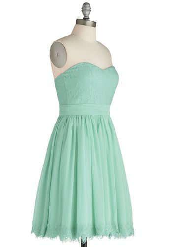Chic My Name Dress in Seafoam, #ModCloth