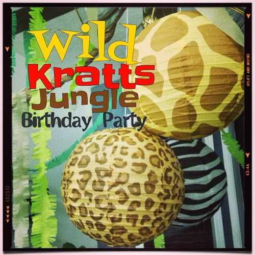 Wild Kratts birthday party, jungle birthday party, zebra cheetah giraffe paper plates, party pail