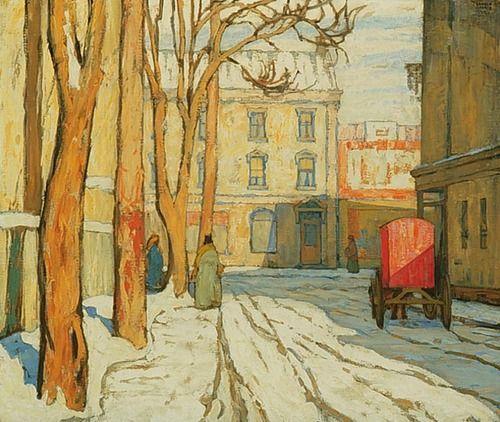 Lawren Harris, Toronto Street, Winter Morning, c. 1920.